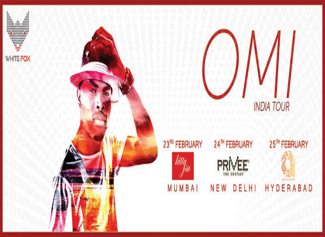 """Debut India Tour of """"Cheerleader"""" singer OMI brought by White Fox India"""