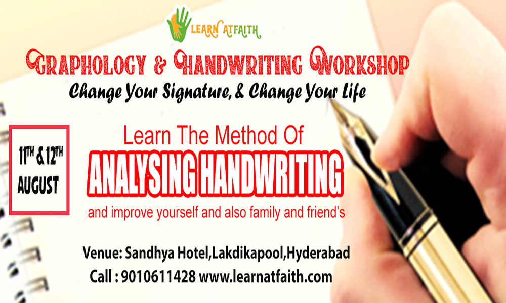 Graphology and Handwriting Workshop in Hyderabad