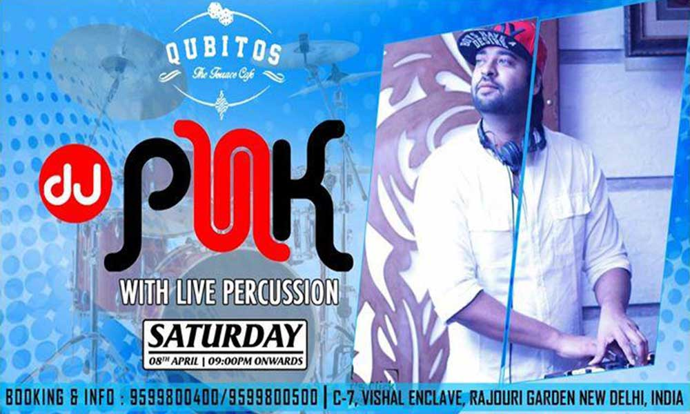Dj punk with live percussion lifestyle events in newdelhi for Qubitos the terrace cafe