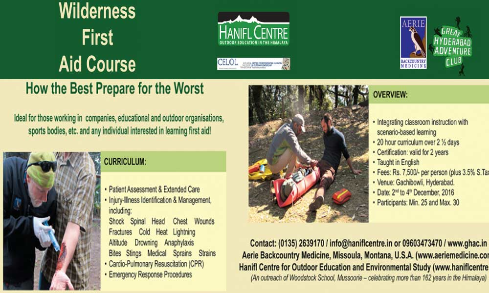 Wilderness First Aid Certificationeducation Events In Hyderabad