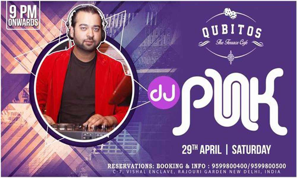 Dj punk performing live lifestyle events in newdelhi delhi for Qubitos the terrace cafe