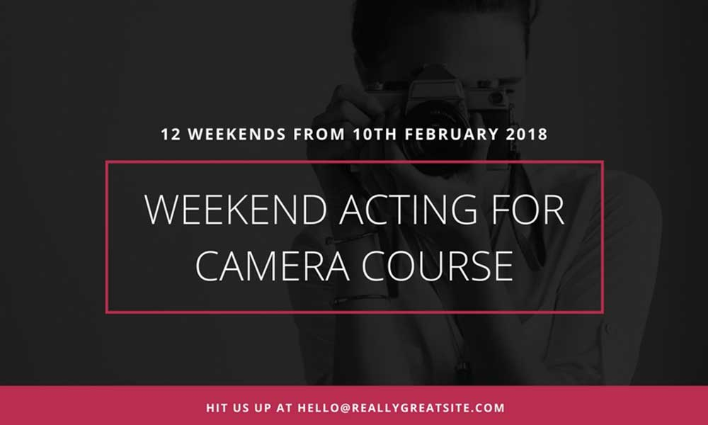 Weekend Acting for Camera Course