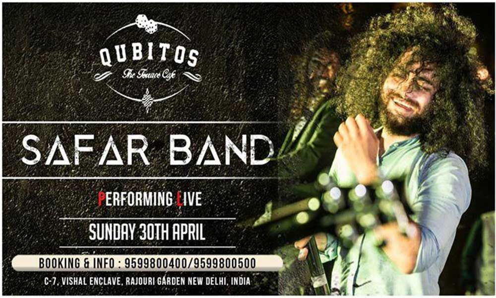 Safar band performing live music events in newdelhi delhi for Qubitos the terrace cafe